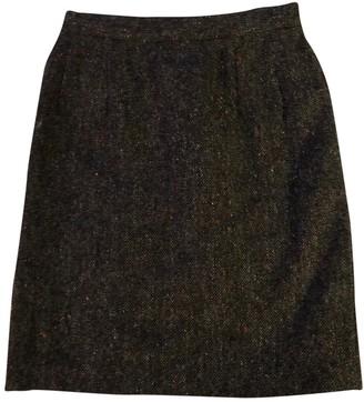 Emmanuelle Khanh Brown Wool Skirt for Women Vintage