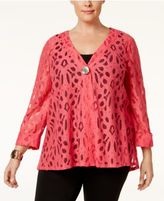 JM Collection Plus Size Lace Jacket, Only at Macy's