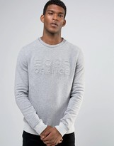 BOSS ORANGE By Hugo Boss Woorth Crew Sweatshirt EmBOSS Logo
