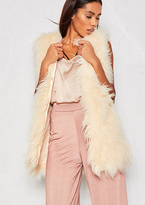 Missy Empire Natalia Cream Faux Fur Gilet