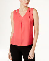 Calvin Klein Sleeveless Cutout Blouse