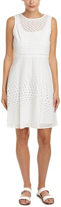 Julia Jordan Women's All Over Mesh Printed Fit and Flarhe Dress
