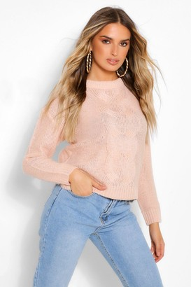 boohoo Lightweight Cable Knit Jumper