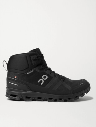 On Cloudrock Waterproof Mesh Hiking Boots