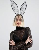 Missguided Halloween Lace Bunny Ears Headband
