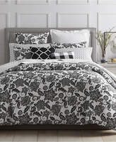 Charter Club Damask Designs Black Floral 3-Pc. Full/Queen Duvet Set, Created for Macy's