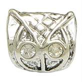 Olympia Owl Charm With Crystal Eyes Euro Style Compatible Charm