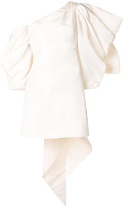 Carolina Herrera Off-Shoulder Draped-Detail Dress