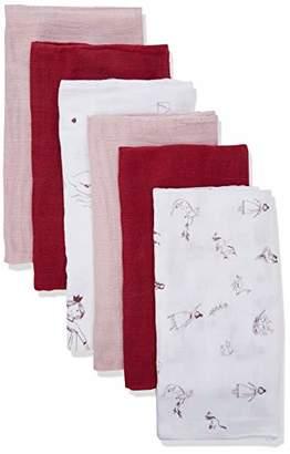 Pippi Baby 6er Pack Unisex Windeln Mit Verschiedenen Motiven Swimwear Set,One (Size: 70x70)