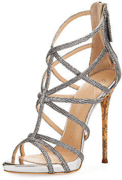 Giuseppe Zanotti Metallic Spotted High Dressy Sandal