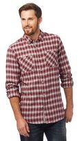 Mantaray Dark Red Two Tone Checked Print Shirt