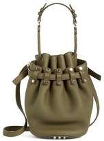 Alexander Wang 'Small Diego - Nickel' Leather Bucket Bag - Green
