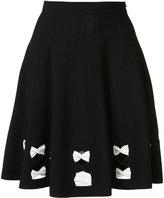 Alexander McQueen A-line bow skirt
