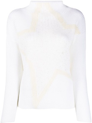 Lorena Antoniazzi Ribbed-Knit Funnel Neck Jumper