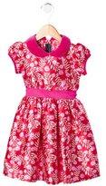 Oscar de la Renta Girls' Silk-Blend Floral Print Dress w/ Tags