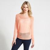 Apricot Aqua Batwing Sleeve Fine Knit Jumper