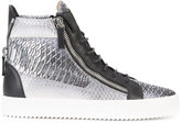 Giuseppe Zanotti Design snake print high-top sneakers - men - Leather/rubber - 40