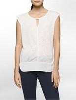 Calvin Klein Keyhole Short Sleeve Top