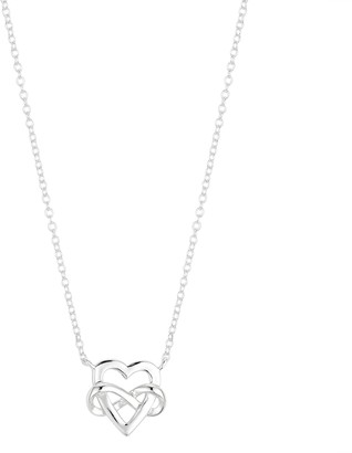 """Love This Life """"Mom"""" Sterling Siler Heart & Infinity Necklace"""
