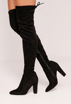 Missguided Over The Knee Heeled Boots Black