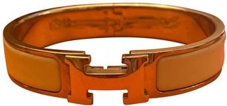 Hermã ̈S HermAs Clic H White Ceramic Bracelets