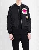 Saint Laurent Teddy Satin Bomber Jacket