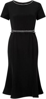 James Lakeland Woven Dress With Beaded Waist