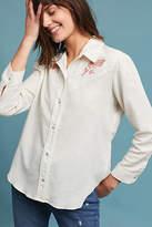 Amo Floral Embroidered Buttondown