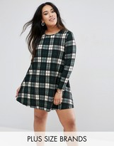 AX Paris Plus Swing Dress In Check
