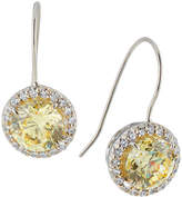 FANTASIA Canary Cubic Zirconia Drop Earrings