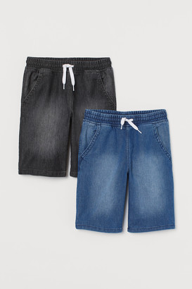 H&M 2-pack Denim Pull-on Shorts