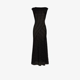 Alaia Psyche Open Knit Flared Dress