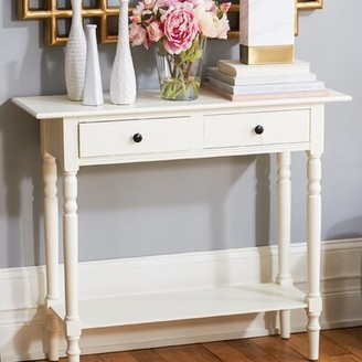 "Andover Millsâ""¢ Regan 37.8"" Solid Wood Console Table Andover Millsa Color: Vintage Gray"