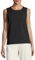 Eileen Fisher Organic Cotton-Blend Stretch-Jersey Shell