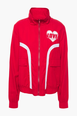 Love Moschino Gathered Printed Twill Jacket