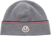 Moncler Bi-colour Trim Wool Beanie