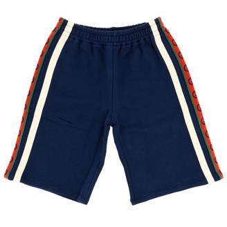 Gucci Shorts With Logoed Bands