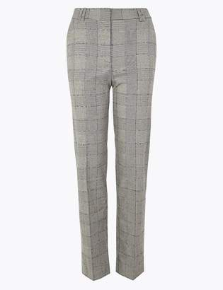 Freya M&S CollectionMarks and Spencer Checked Relaxed Straight Trousers