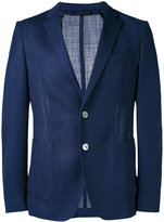 HUGO BOSS fine knit blazer - men - Silk/Polyamide/Cupro/Virgin Wool - 48