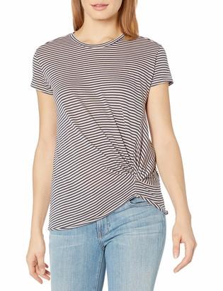 Stateside Women's Supima Slub Skinny Navy Stripe Twist