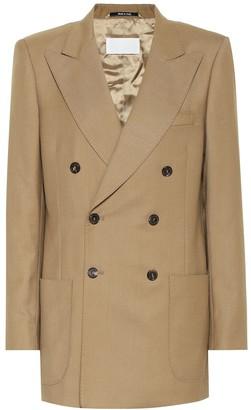 Maison Margiela Double-breasted wool-blend blazer