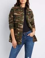 Charlotte Russe Camo Print Anorak Jacket