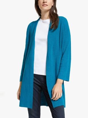 Eileen Fisher Organic Linen Longline Cardigan, Jewel
