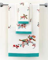 "Lenox Simply Fine Bath Towels, Chirp Printed 11"" x 18"" Fingertip Towel Bedding"