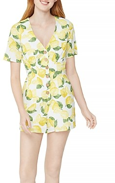 BCBGeneration Button Front Lemonade Romper