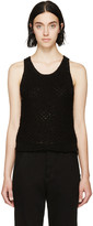 Rag & Bone Black Crocheted Lizette Top