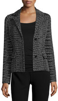 M Missoni Space-Dye Two-Button Blazer, Black