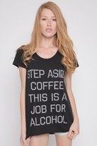 Rebel Yell Step Aside Coffee Pocket Tunic in Black