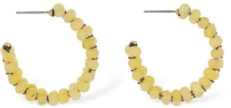 Isabel Marant Imani Beaded Small Hoop Earrings