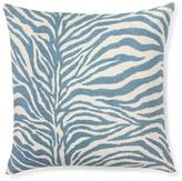 Printed Zebra Pillow Cover, Adriatic Blue